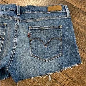 Levi's Denim Stretch Jean Cut Off Shorts